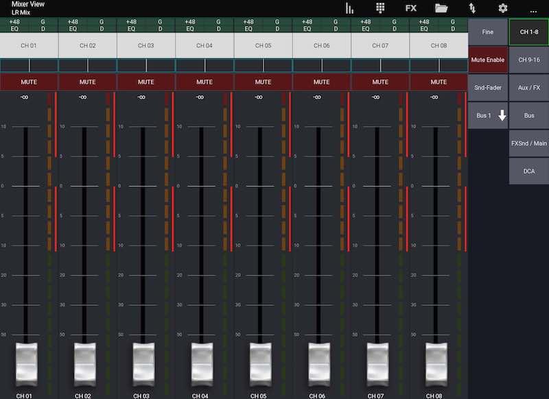 Mixing Station App IOS für Ipad