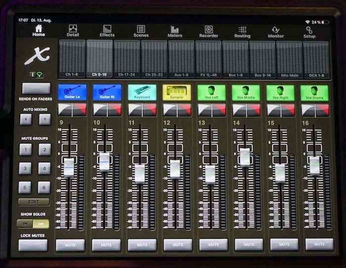 X32 Ipad Remote Control