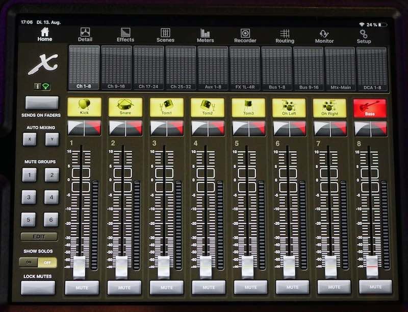 Soundcheck Fader