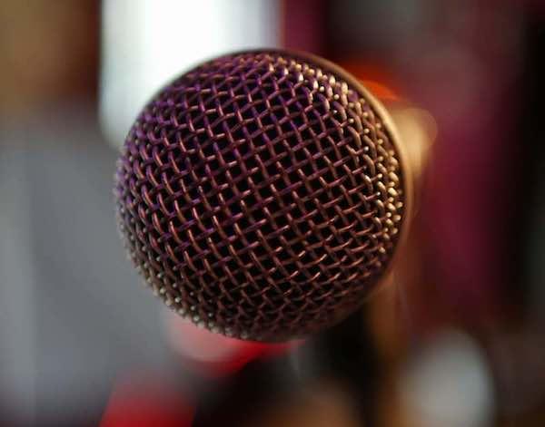 Gesangsmikrofon SM58 Nahaufnahme