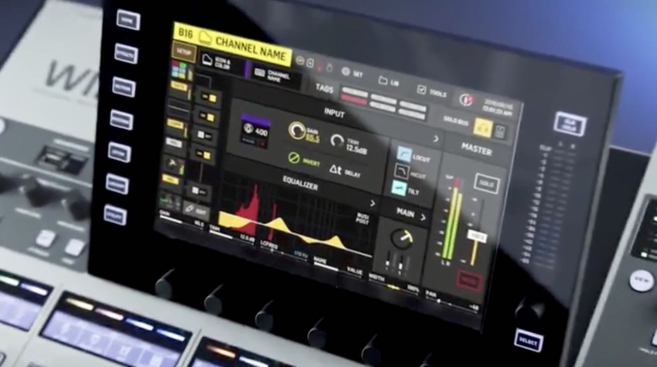 Touch Screen des Behringer WING Digital Mischpults
