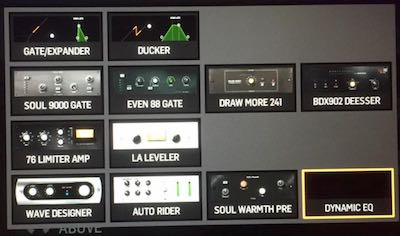 1 Band Dynamic Eq des Behringer Wing